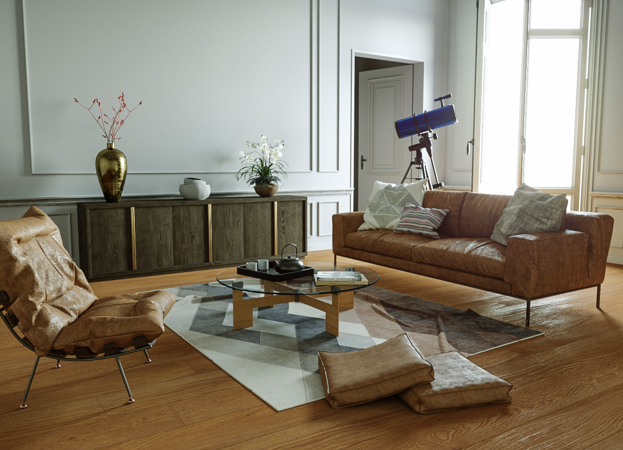 LIVING ROOM image de synthese