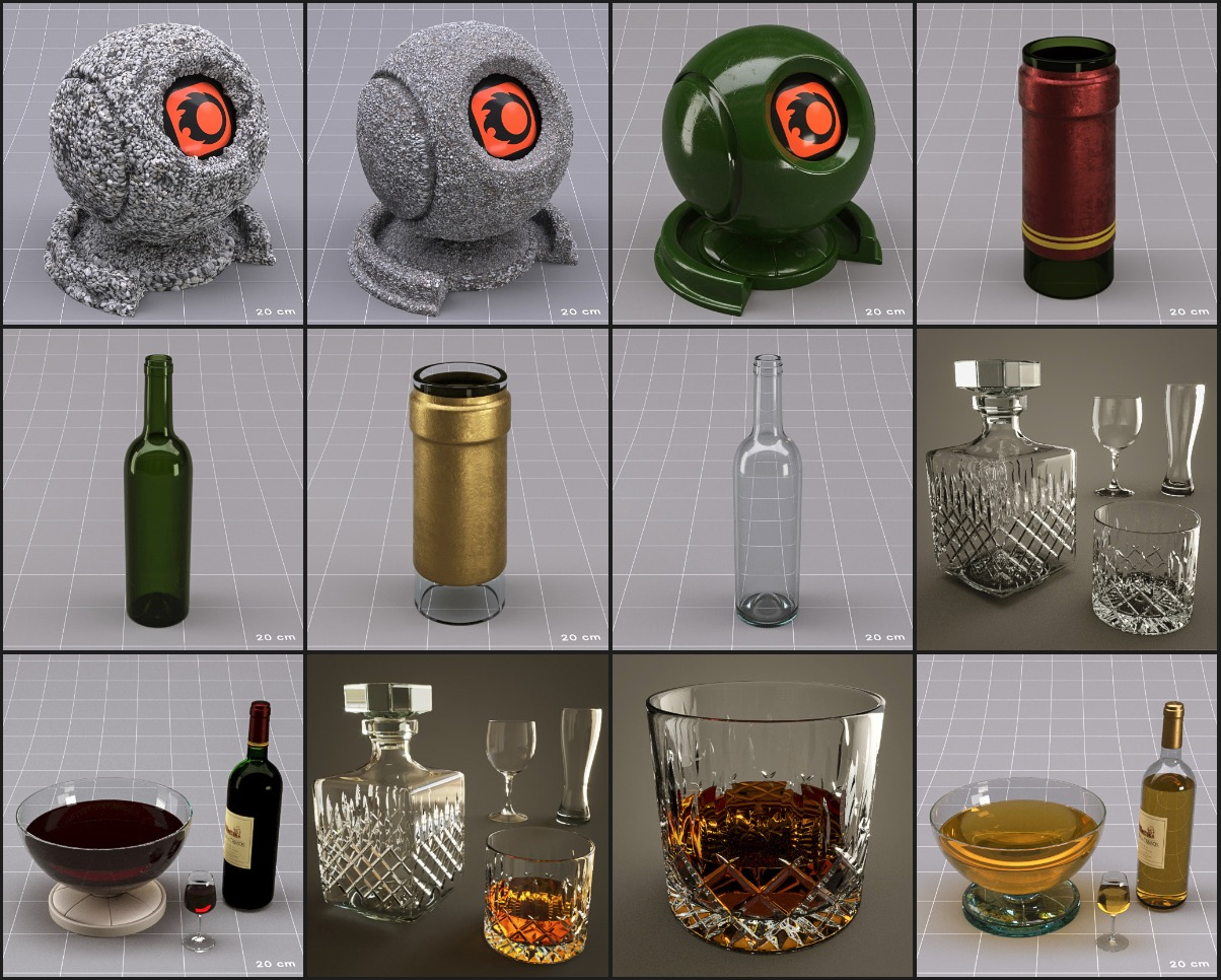 Corona material library for cinema 4D - Architecture Edition