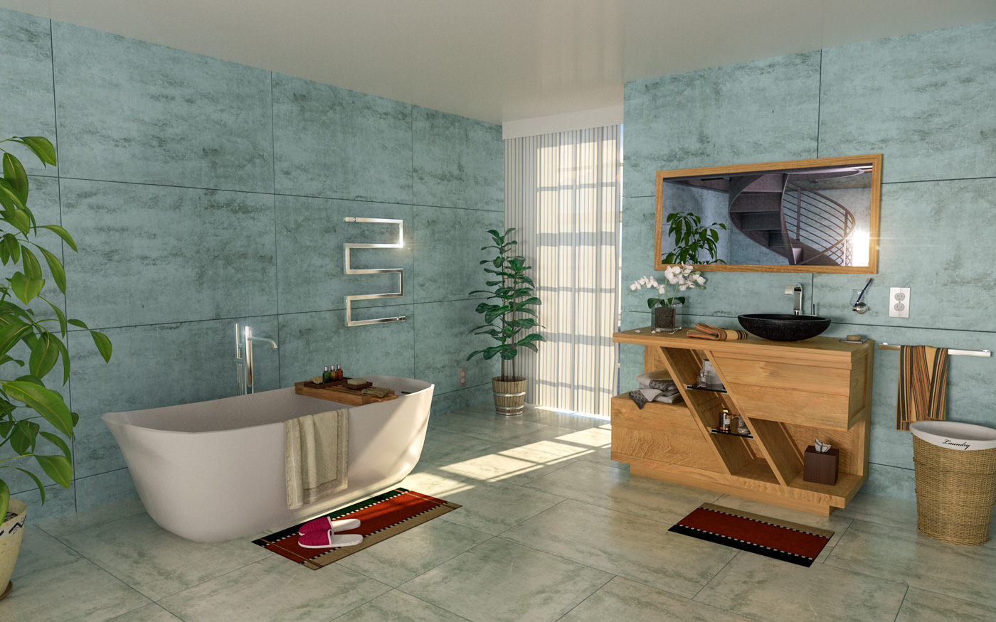 Salle de bains - Architecture visualization with Arnold Render and Cinema 4d